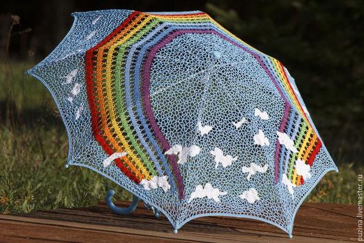 Зонты ручной работы. Ярмарка Мастеров - ручная работа. Купить Зонт от солнца Радуга!. Handmade. Разноцветный, кружевной зонт, жара