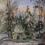 """Картины и панно ручной работы. Ярмарка Мастеров - ручная работа Картина """"Зимний лес"""". Handmade."""
