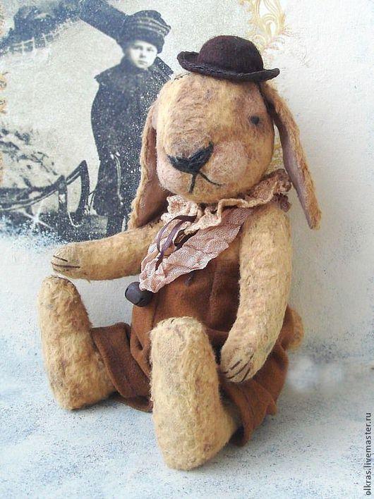 Мишки Тедди ручной работы. Ярмарка Мастеров - ручная работа. Купить Мистер Кроль. Handmade. Бежевый, оригинальный подарок, кролик
