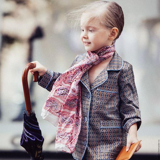 Одежда унисекс ручной работы. Ярмарка Мастеров - ручная работа. Купить Костюм пижамного стиля (хлопок+шелк). Handmade. Комбинированный