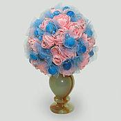 """Цветы и флористика ручной работы. Ярмарка Мастеров - ручная работа Цветы из агата """"Любовь и нежность"""" в вазочке из оникса. Handmade."""