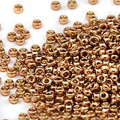 Бисер ручной работы. Ярмарка Мастеров - ручная работа Круглый 15/0 Miyuki 4204 золотое шампанское Duracoat Японский бисер 8г. Handmade.