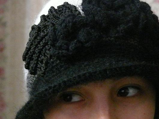 """Шапки ручной работы. Ярмарка Мастеров - ручная работа. Купить Шапочка """" Шепот"""". Handmade. Чёрно-белый, теплая шапка"""