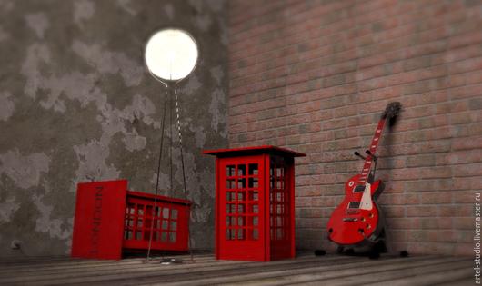 Мебель ручной работы. Ярмарка Мастеров - ручная работа. Купить Табурет Телефонная будка Лондон фанера дерево красный. Handmade.