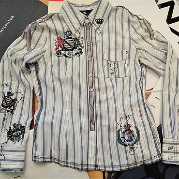 """Одежда ручной работы. Ярмарка Мастеров - ручная работа Роскошная рубашка в полоску KAPALUA , """"Геральдика"""" Германия. Handmade."""