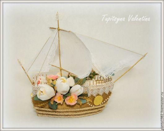 """Подарки на свадьбу ручной работы. Ярмарка Мастеров - ручная работа. Купить Корабль """"Нежность"""". Handmade. Корабль, бумага"""