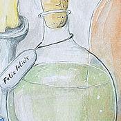 """Картины и панно ручной работы. Ярмарка Мастеров - ручная работа Акварель """"Алхимия"""". Handmade."""