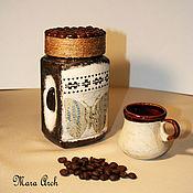 Банки ручной работы. Ярмарка Мастеров - ручная работа Банка для кофе. Handmade.