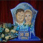 Свадебный салон handmade. Livemaster - original item Perpetual calendar Wedding gift portrait painting. Handmade.