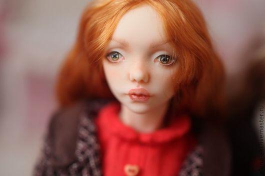 Коллекционные куклы ручной работы. Ярмарка Мастеров - ручная работа. Купить Эшли. Handmade. Оранжевый, подарок женщине, вискоза 100%