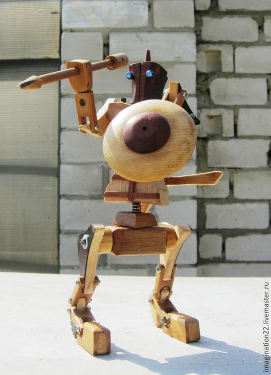 Развивающие игрушки ручной работы. Ярмарка Мастеров - ручная работа. Купить Деревянная игрушка.Робот трансформер-конструктор. Handmade. Дерево
