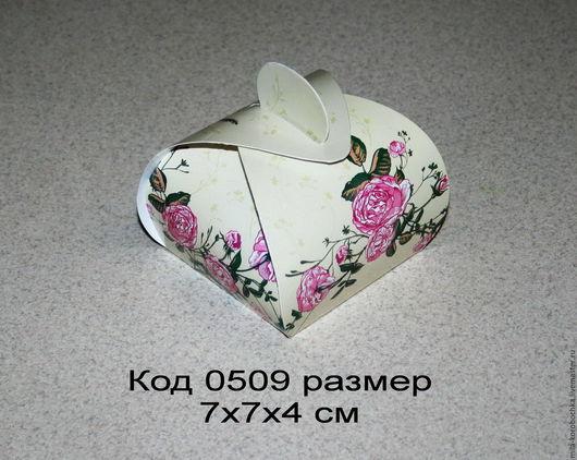 Коробочка подарочная (бонбоньерка) код 0509 размер 7х7х4 см