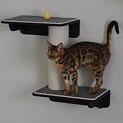 Зоотовары handmade. Livemaster - original item Double shelf with scratching post. Handmade.