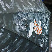 Аксессуары ручной работы. Ярмарка Мастеров - ручная работа Расписной зонт Ежик в тумане с совой. Handmade.