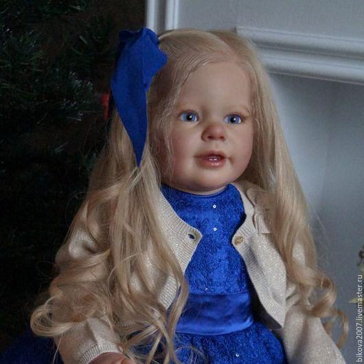 Куклы-младенцы и reborn ручной работы. Ярмарка Мастеров - ручная работа. Купить Сонечка. Handmade. Тёмно-синий, мохер