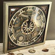 """Часы классические ручной работы. Ярмарка Мастеров - ручная работа Часы настенные """"шестеренки"""". Handmade."""