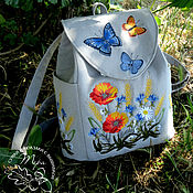 Сумки и аксессуары handmade. Livemaster - original item Backpack textile Summer bliss. Handmade.
