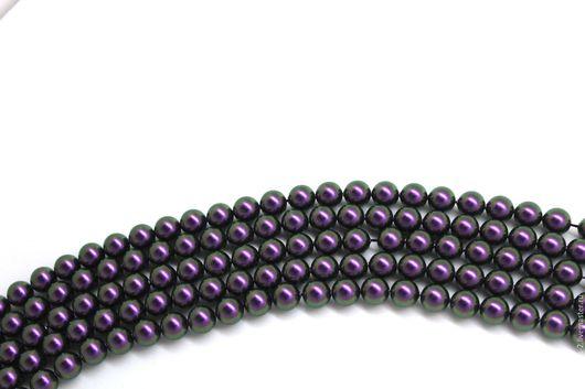 Для украшений ручной работы. Ярмарка Мастеров - ручная работа. Купить Жемчуг 4мм Сваровски Iridescent Purple. Handmade.