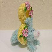 Куклы и игрушки ручной работы. Ярмарка Мастеров - ручная работа МК Зайка - поздравлялка к 8 Марта. Handmade.