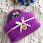 handmade. Livemaster - original item Knitted women`s hat made of mohair