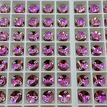 Материалы для творчества. Ярмарка Мастеров - ручная работа 10мм Риволи люкс цвет Роза. Handmade.