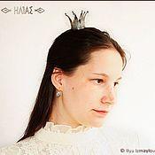 """Украшения ручной работы. Ярмарка Мастеров - ручная работа """"Старая Серебряная Корона III"""" Заколка для волос (невидимка). Handmade."""