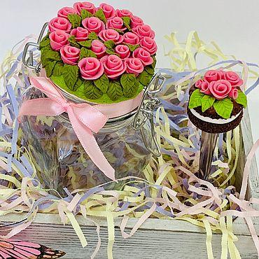 Посуда ручной работы. Ярмарка Мастеров - ручная работа Набор «Розовые розы». Handmade.