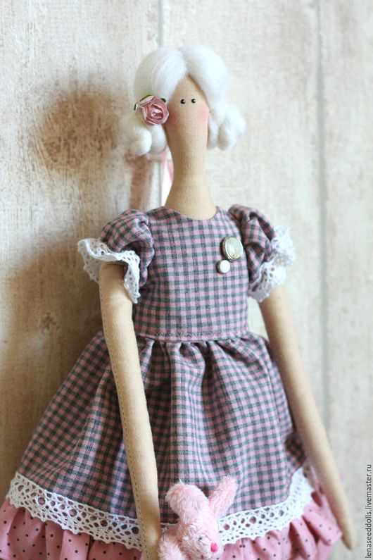 Куклы Тильды ручной работы. Ярмарка Мастеров - ручная работа. Купить - Claire - тильда. Handmade. Бледно-розовый, ангел