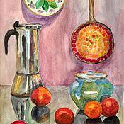 Картины и панно ручной работы. Ярмарка Мастеров - ручная работа Оранжевый натюрморт. Handmade.