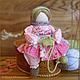 Народные куклы ручной работы. Ярмарка Мастеров - ручная работа. Купить Рукодельница. Handmade. Розовый, вязание, текстильная кукла, лён