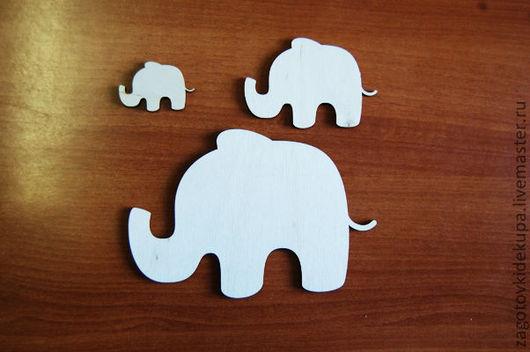 Слоники (в наборе 3 штуки) Размеры: 10х7 см, 7х5 см, 4х3 см Материал: фанера 3 мм