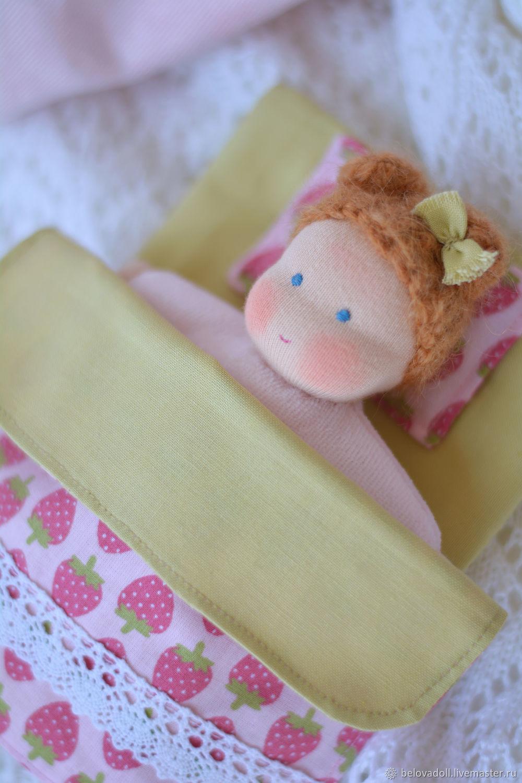 Вальдорфская кукла Клубничка, 15 см, Вальдорфская игрушка, Краснодар, Фото №1