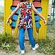 Одежда для девочек, ручной работы. Комплект для девочки-тройка: платье,  топ и легенсы.. Evnika - ателье - мастерская. Ярмарка Мастеров. Комплект
