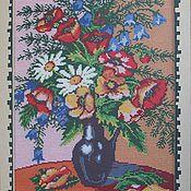 Картины и панно ручной работы. Ярмарка Мастеров - ручная работа букет полевых цветов. Handmade.