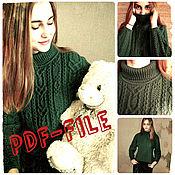 Материалы для творчества handmade. Livemaster - original item MK Description instructions for knitting sweaters.. Handmade.