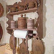 Для дома и интерьера ручной работы. Ярмарка Мастеров - ручная работа полка для кухни эксклюзивная. Handmade.