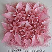 """Картины и панно ручной работы. Ярмарка Мастеров - ручная работа Картина """"Розовые цветочки"""". Handmade."""