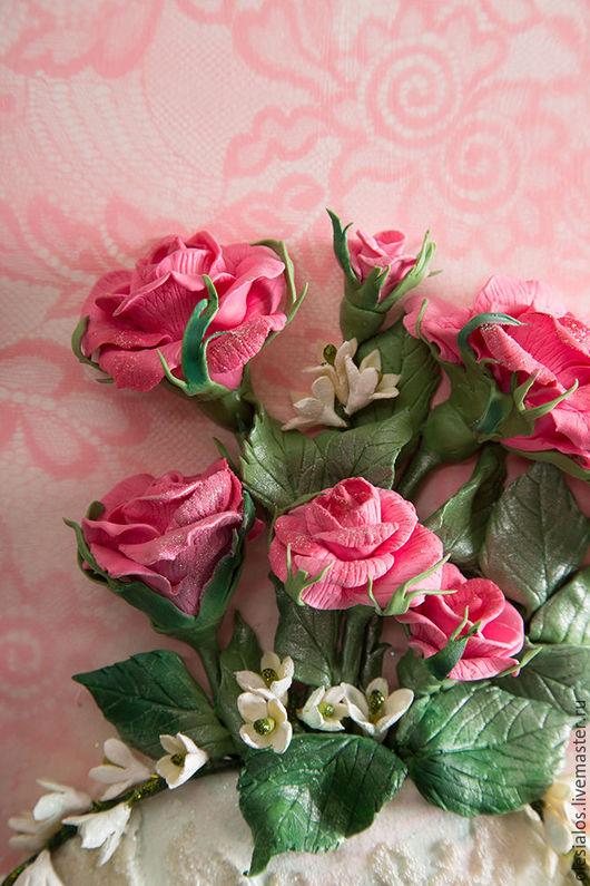 """Картины цветов ручной работы. Ярмарка Мастеров - ручная работа. Купить """"Нежно-розовый букет"""". Handmade. Розовый, цветочная композиция"""