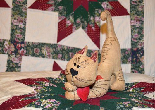 Ароматизированные куклы ручной работы. Ярмарка Мастеров - ручная работа. Купить КОТофеюшка. Кофейная серия. Handmade. Бежевый, коты