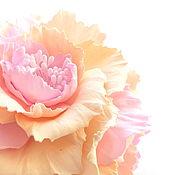 Украшения ручной работы. Ярмарка Мастеров - ручная работа Зефирно-сливочная роза.Украшения для волос.. Handmade.
