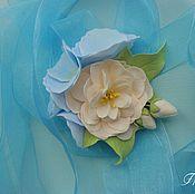 """Браслеты ручной работы. Ярмарка Мастеров - ручная работа Браслет подружки невесты """"Кремовое небо"""". Handmade."""