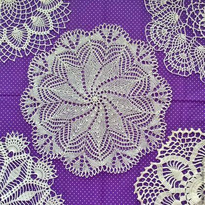 Текстиль, ковры ручной работы. Ярмарка Мастеров - ручная работа. Купить Салфетка спицами