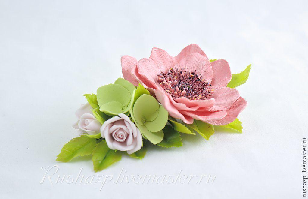 Фото цветов из полимерной глины