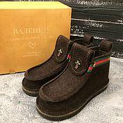 Сувениры и подарки handmade. Livemaster - original item Gifts on February 23: Men`s boots in Gucci style, street shoes. Handmade.