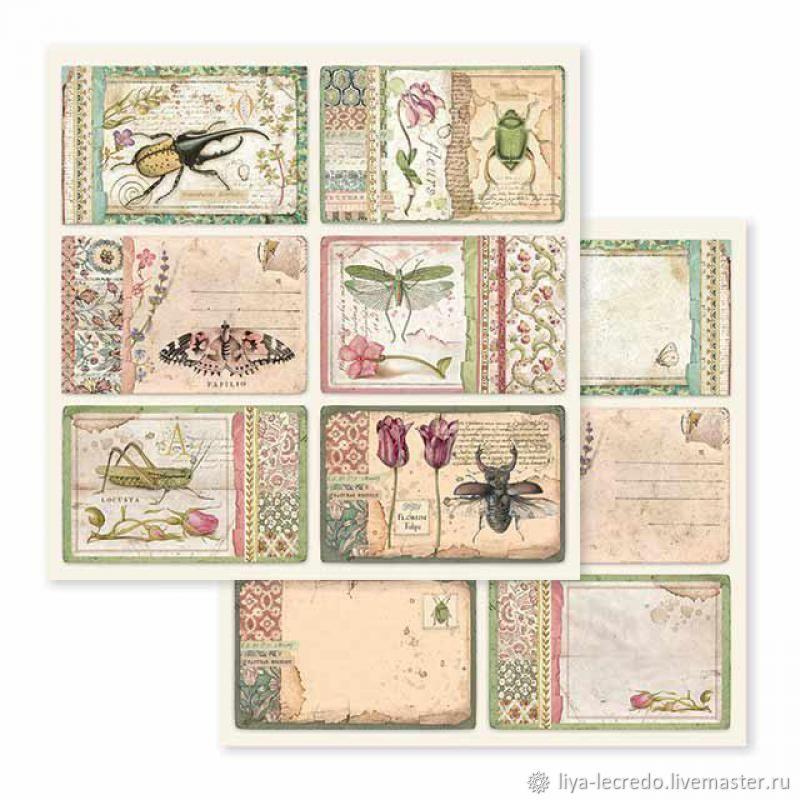 Stamperia Spring Botanic карточки, Бумага для скрапбукинга, Москва,  Фото №1