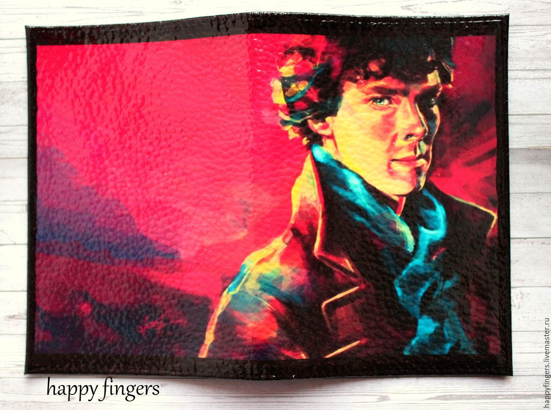 Leather passport cover 'Sherlock', Sherlock Sherlock, Cover, Elektrostal,  Фото №1