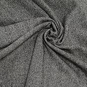 Материалы для творчества handmade. Livemaster - original item Fabric: Costume wool in a herringbone pattern. Handmade.
