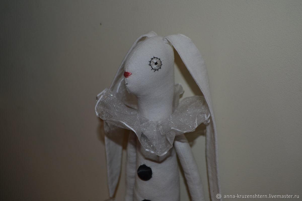 Игрушки животные, ручной работы. Ярмарка Мастеров - ручная работа. Купить Заяц черно-белый. Handmade. Белый кролик