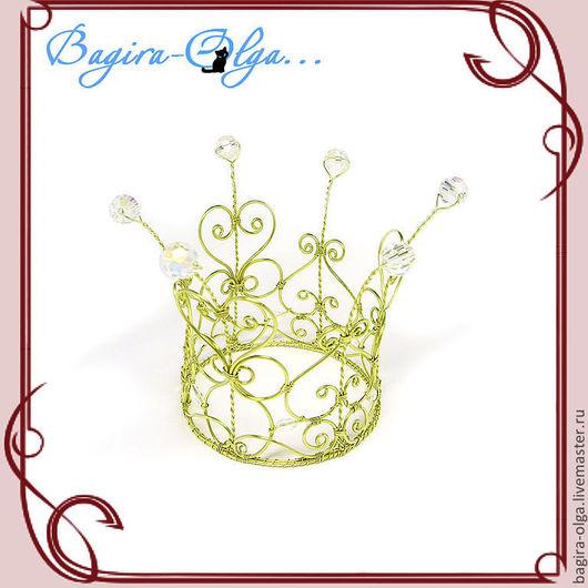"""Диадемы, обручи ручной работы. Ярмарка Мастеров - ручная работа. Купить корона """"Озорница"""". Handmade. Корона, украшение для девушки"""