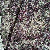 """Ткани ручной работы. Ярмарка Мастеров - ручная работа ткань льняная """"Огурцы"""" уценка. Handmade."""